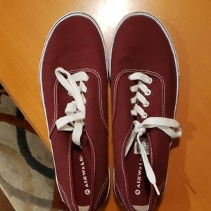 Maroon boat shoes